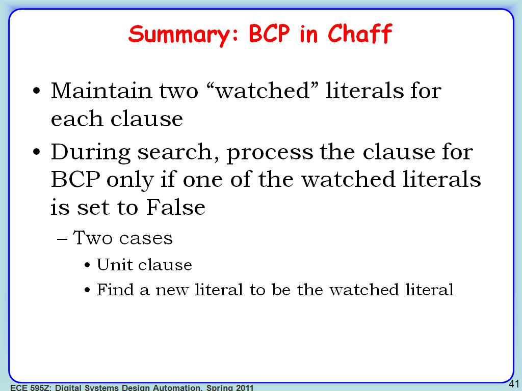 Summary: BCP in Chaff