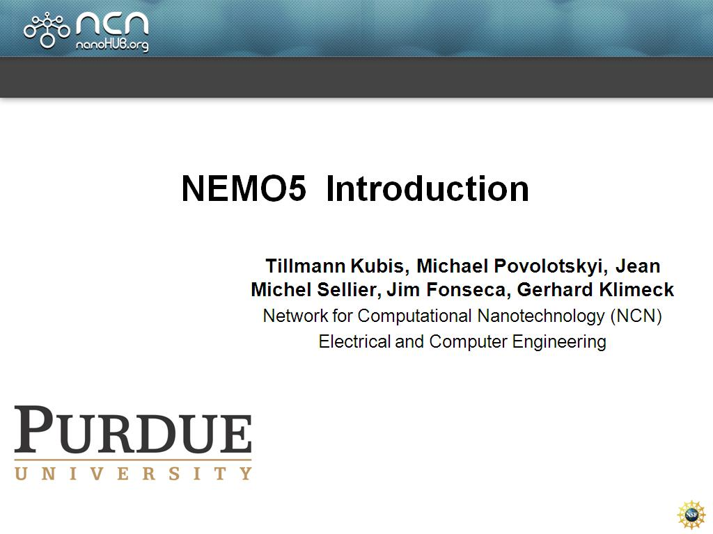 NEMO5 Introduction