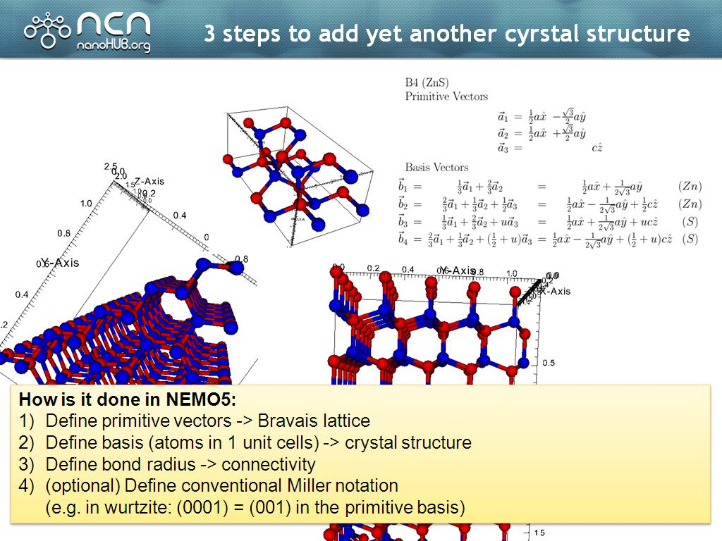 3 steps to add yet another cyrstal structure