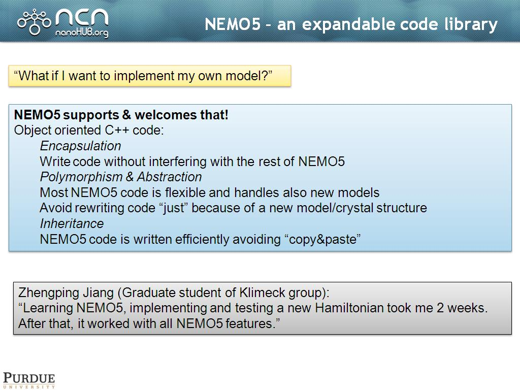 NEMO5 – an expandable code library