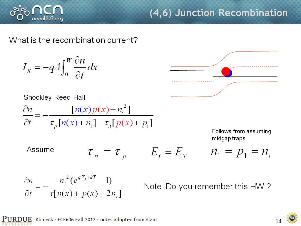 (4,6) Junction Recombination