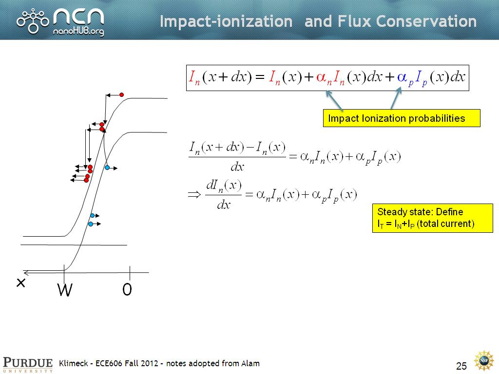 Impact-ionization and Flux Conservation