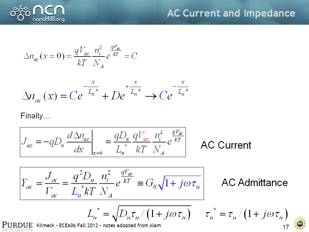 AC Current and Impedance