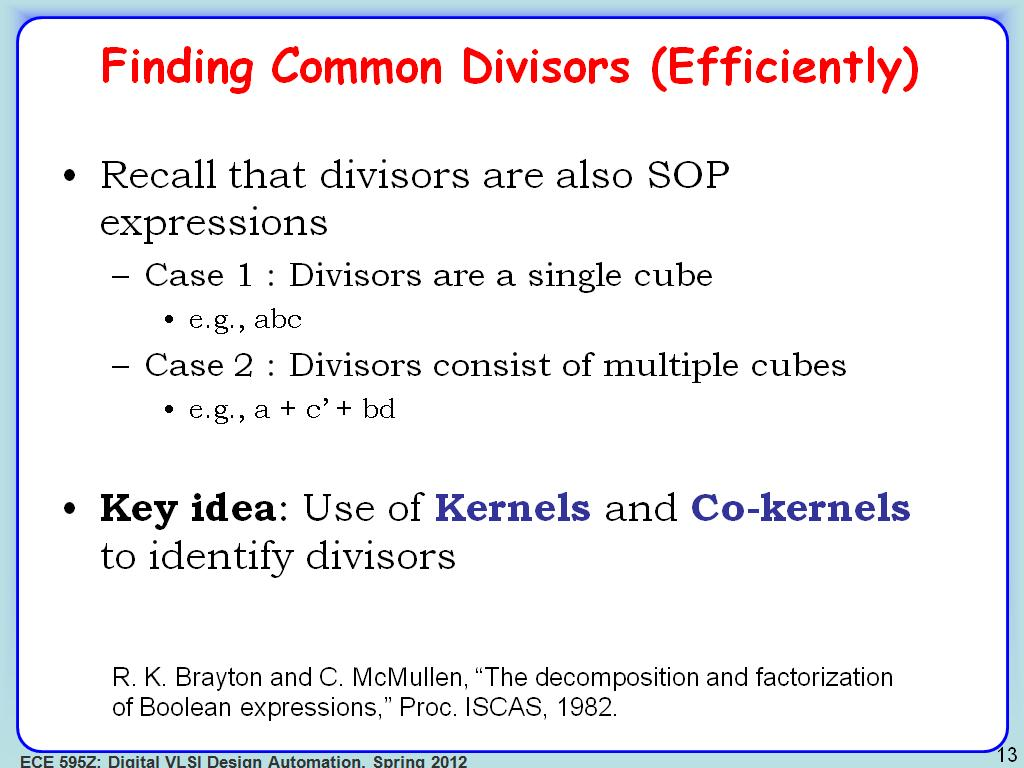 Finding Common Divisors (Efficiently)