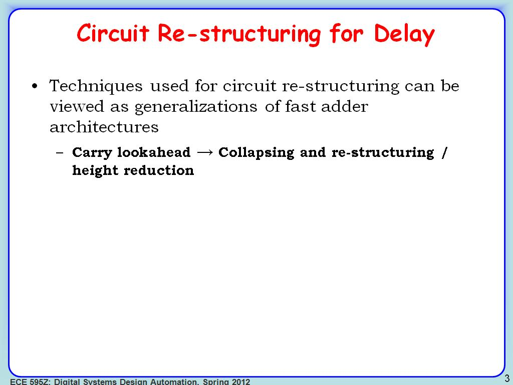 nanoHUB org - Resources: ECE 595Z Lecture 24: Sequential