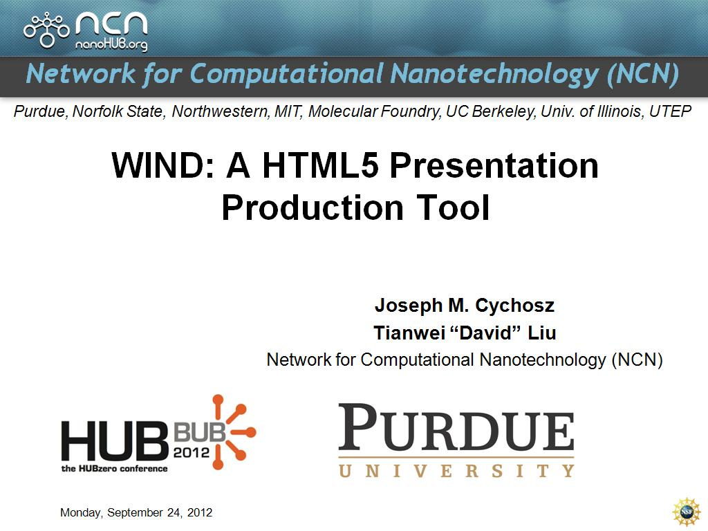 WIND: A HTML5 Presentation Production Tool
