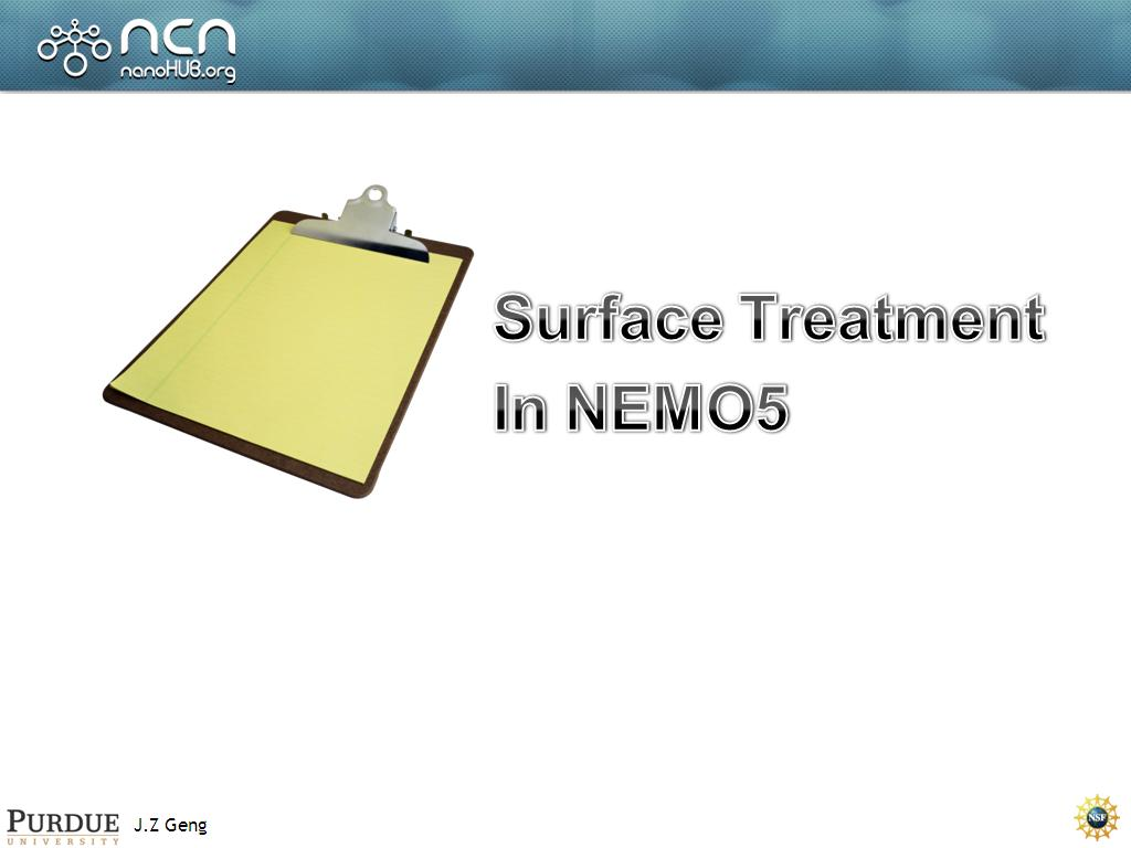 Surface Treatment In NEMO5