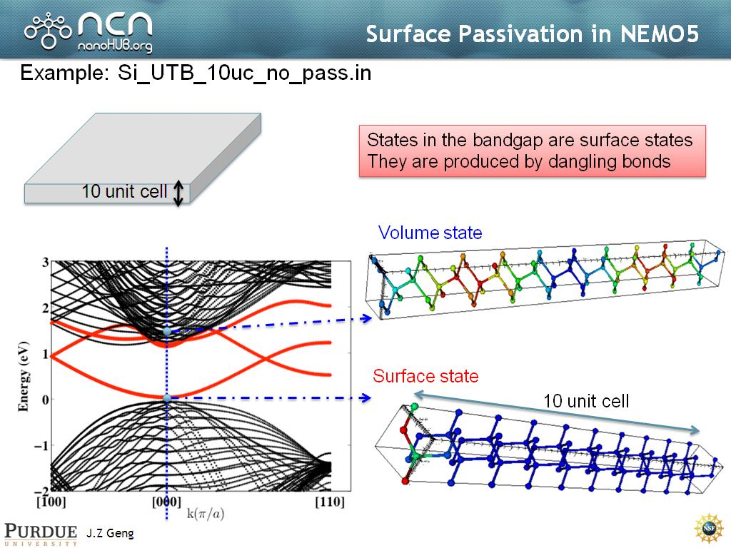 Surface Passivation in NEMO5
