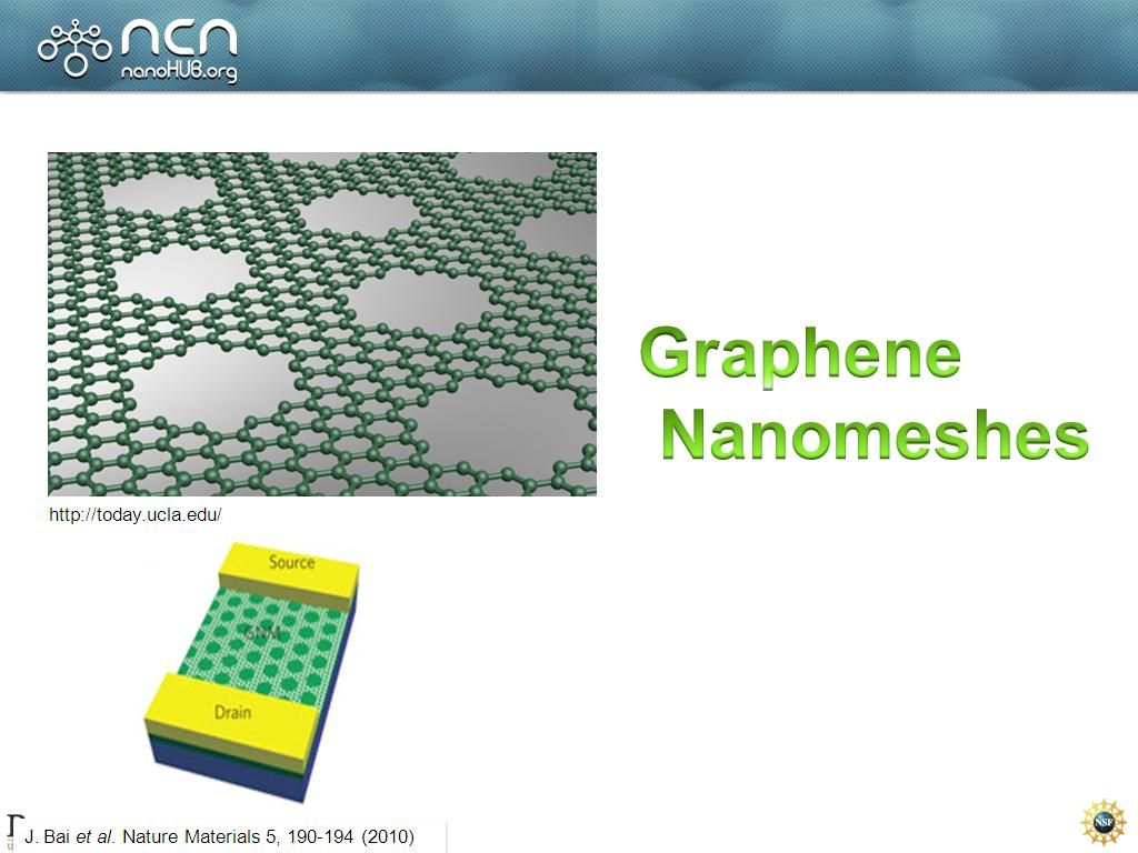 Graphene Nanomeshes
