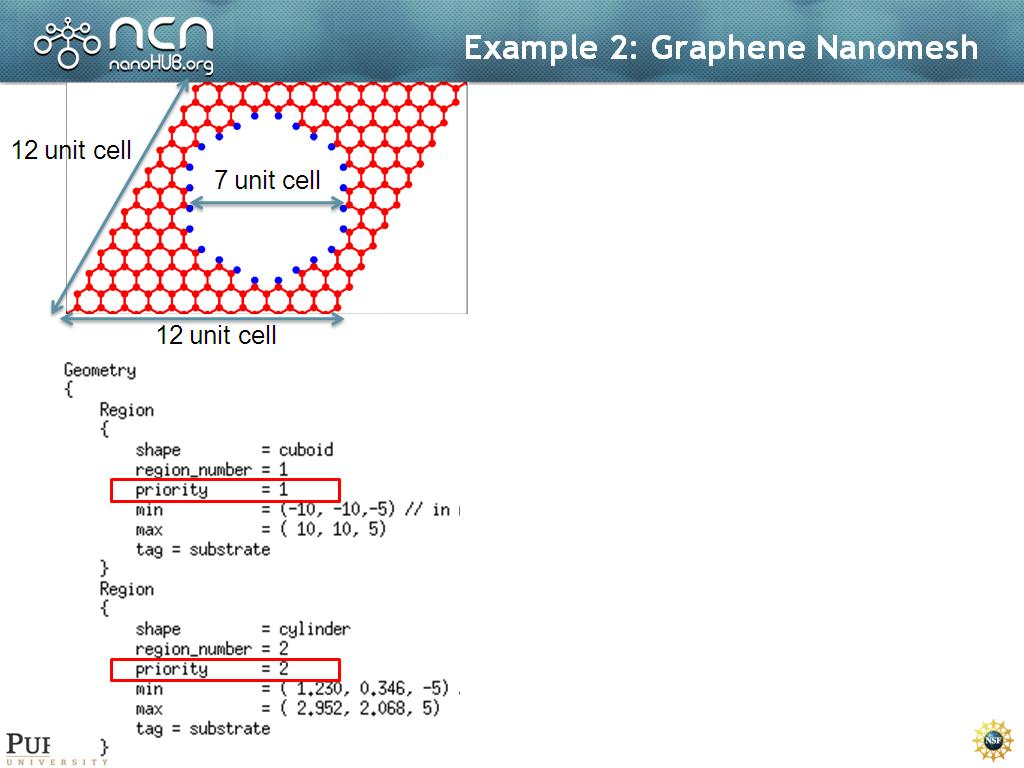 Example 2: Graphene Nanomesh