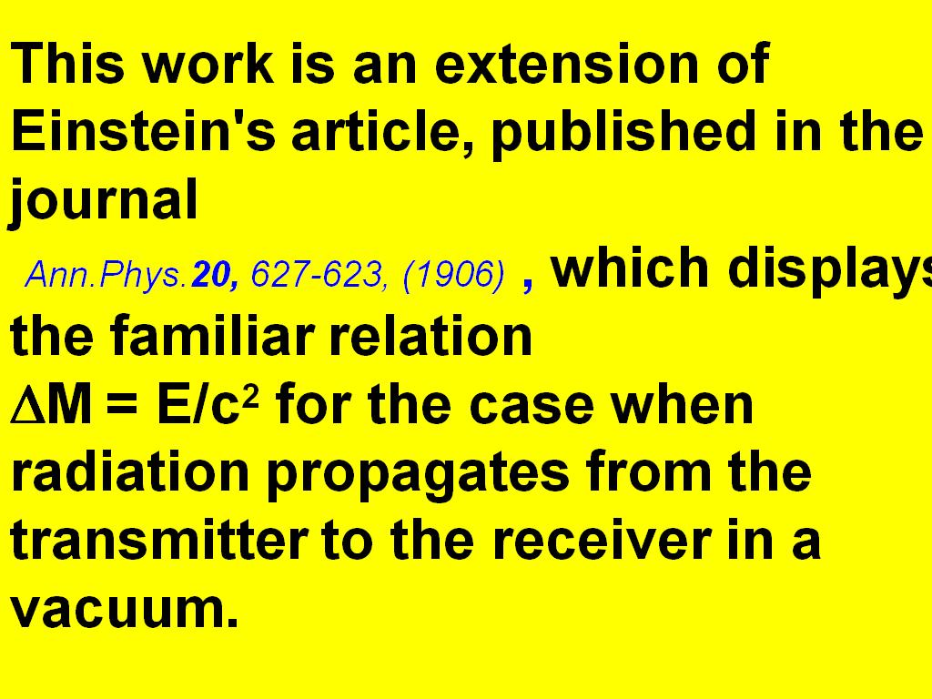 This work is an extension of Einstein's article, ...