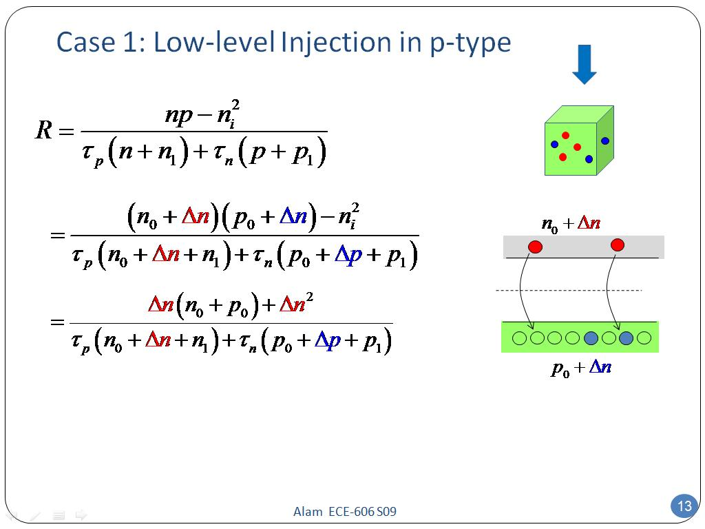 Case 1: Low-level Injection in p-type