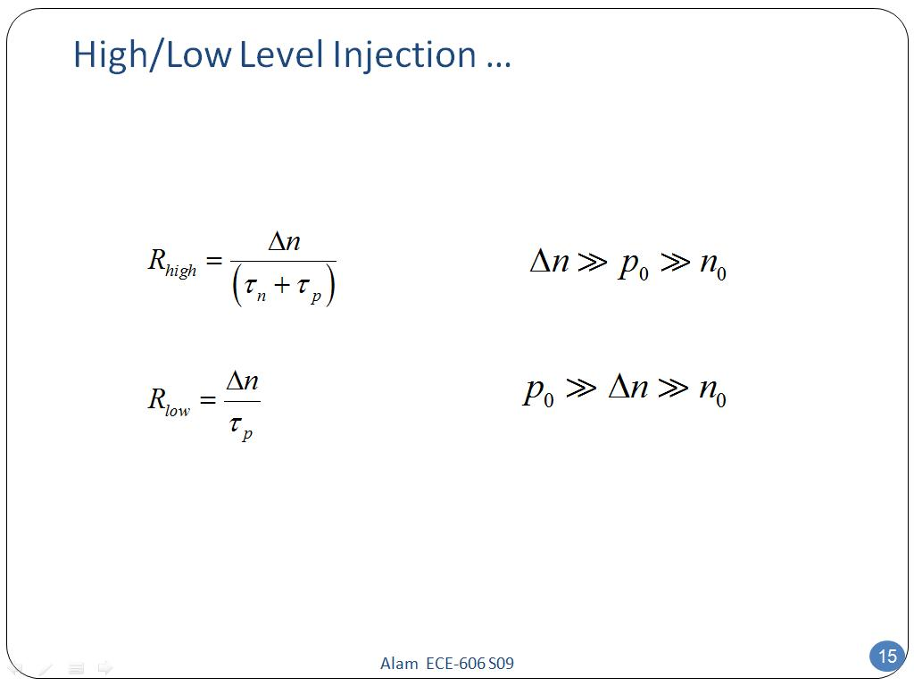 High/Low Level Injection …