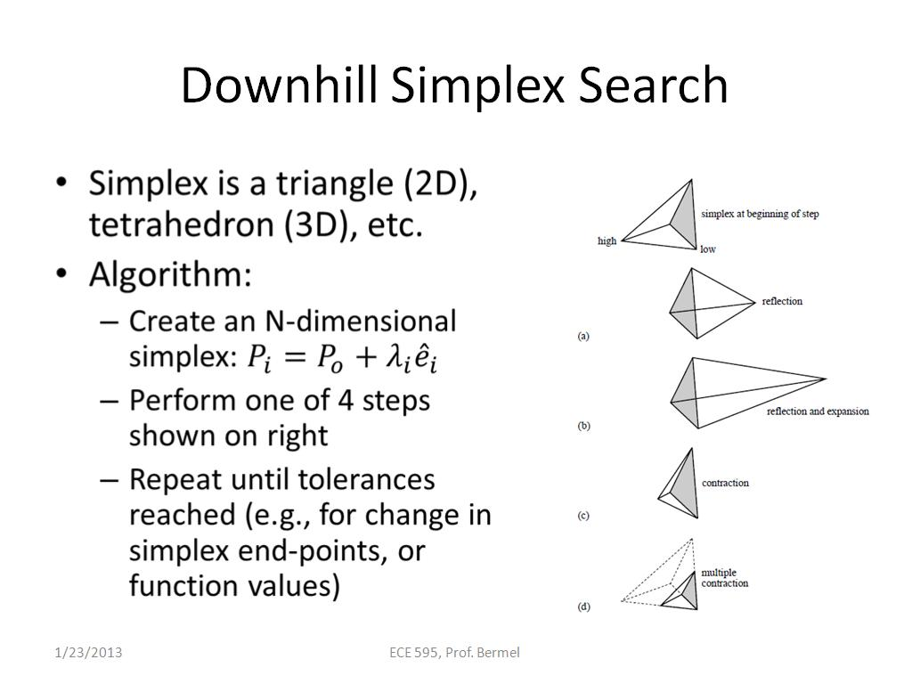 Downhill Simplex Search