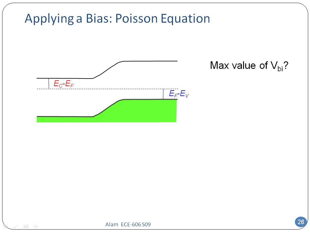 Applying a Bias: Poisson Equation