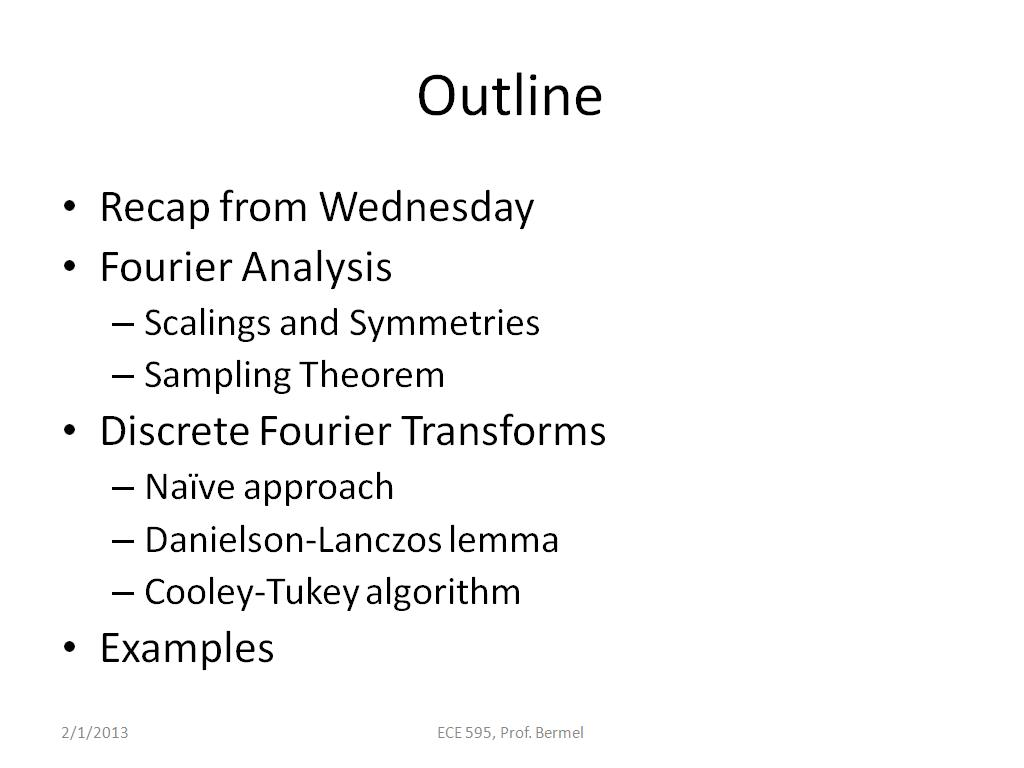 nanoHUB org - Resources: ECE 595E Lecture 11: Fast Fourier