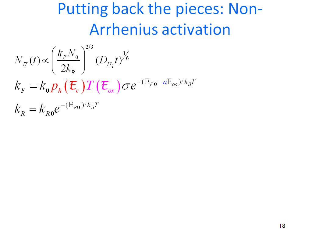 Putting back the pieces: Non-Arrhenius activation