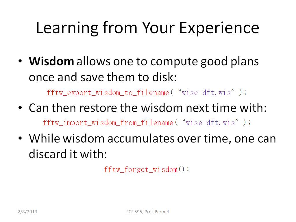 Learning from Your Experience