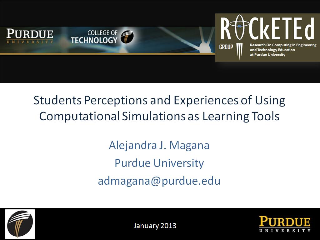 Students Perceptions and Experiences of Using Computational Simulations as Learning Tools