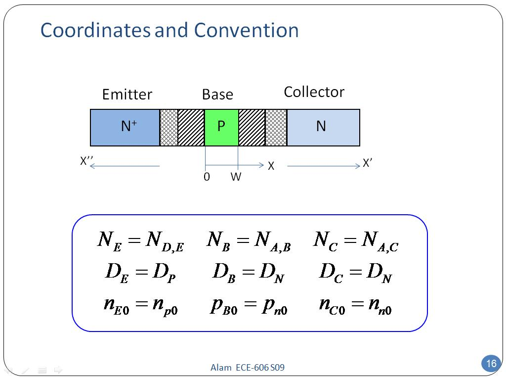Coordinates and Convention