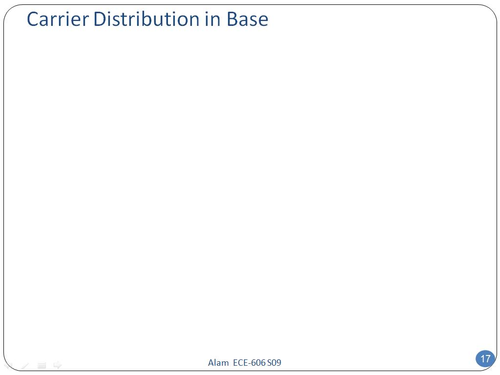 Carrier Distribution in Base
