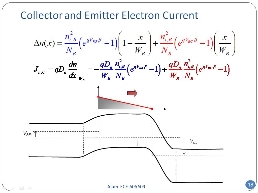 Collector and Emitter Electron Current