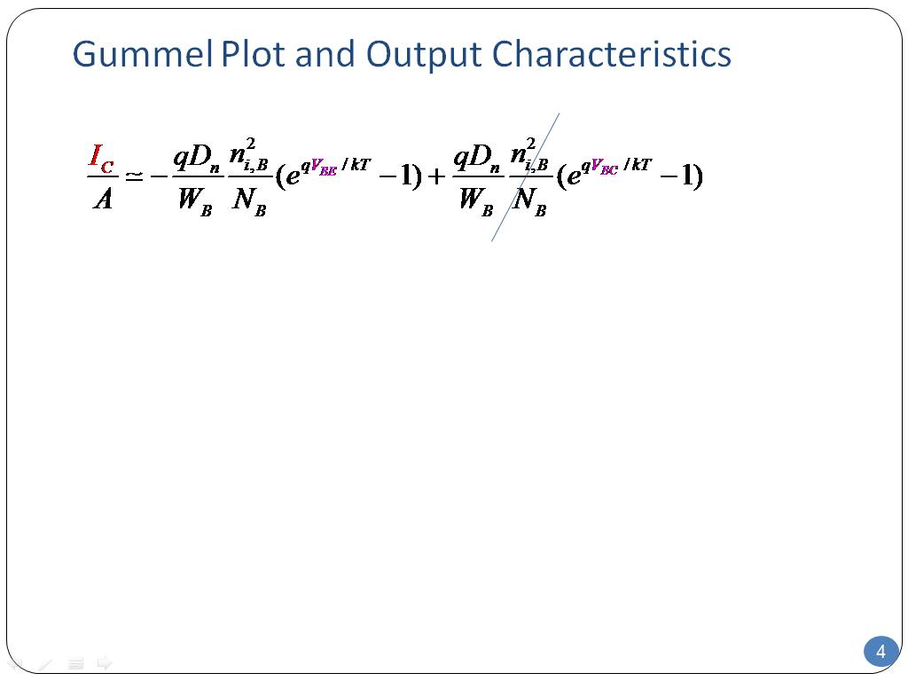 Gummel Plot and Output Characteristics