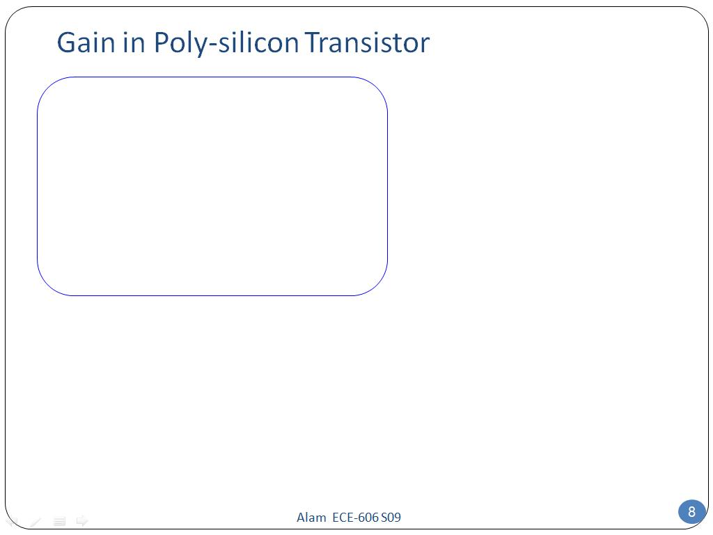 Gain in Poly-silicon Transistor