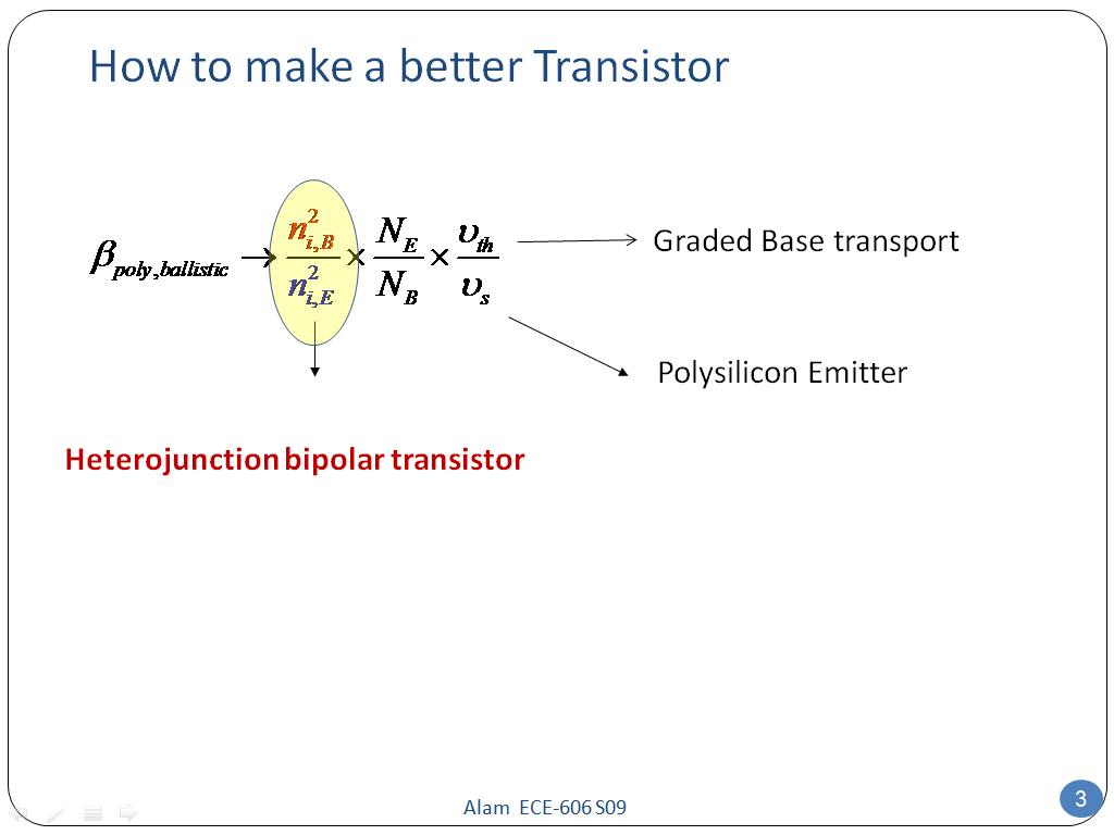 How to make a better Transistor