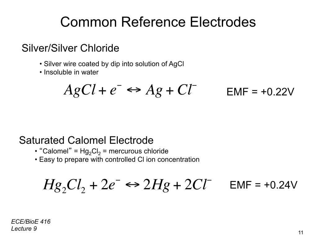 Common Reference Electrodes