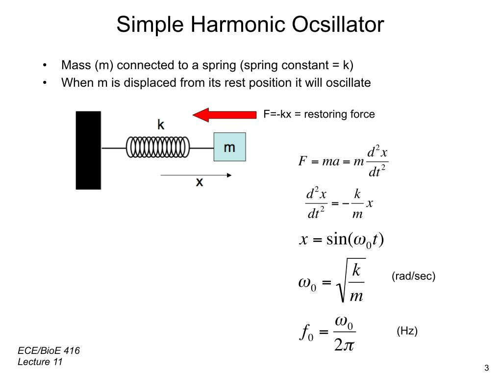 Simple Harmonic Ocsillator Mass
