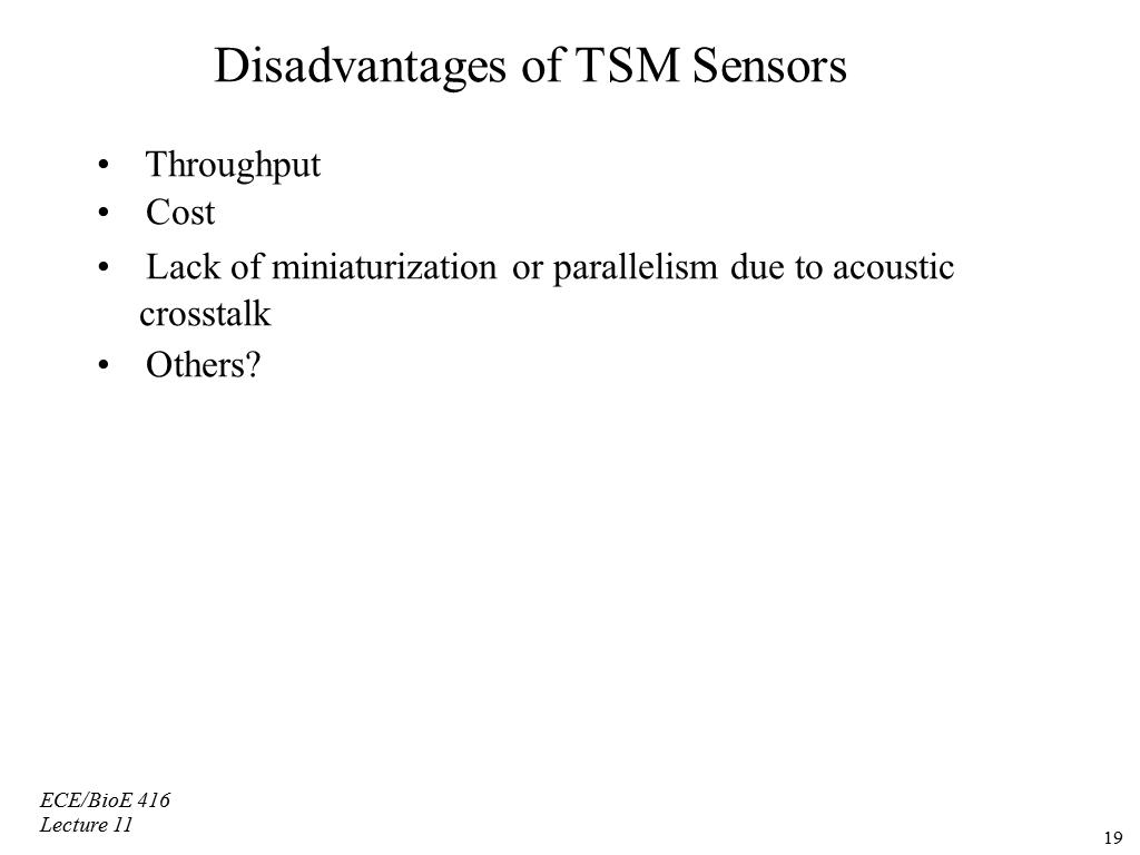Disadvantages of TSM Sensors