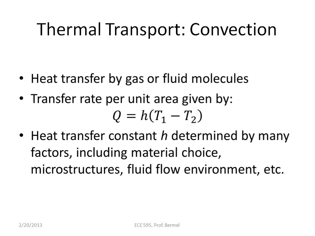 Thermal Transport: Convection
