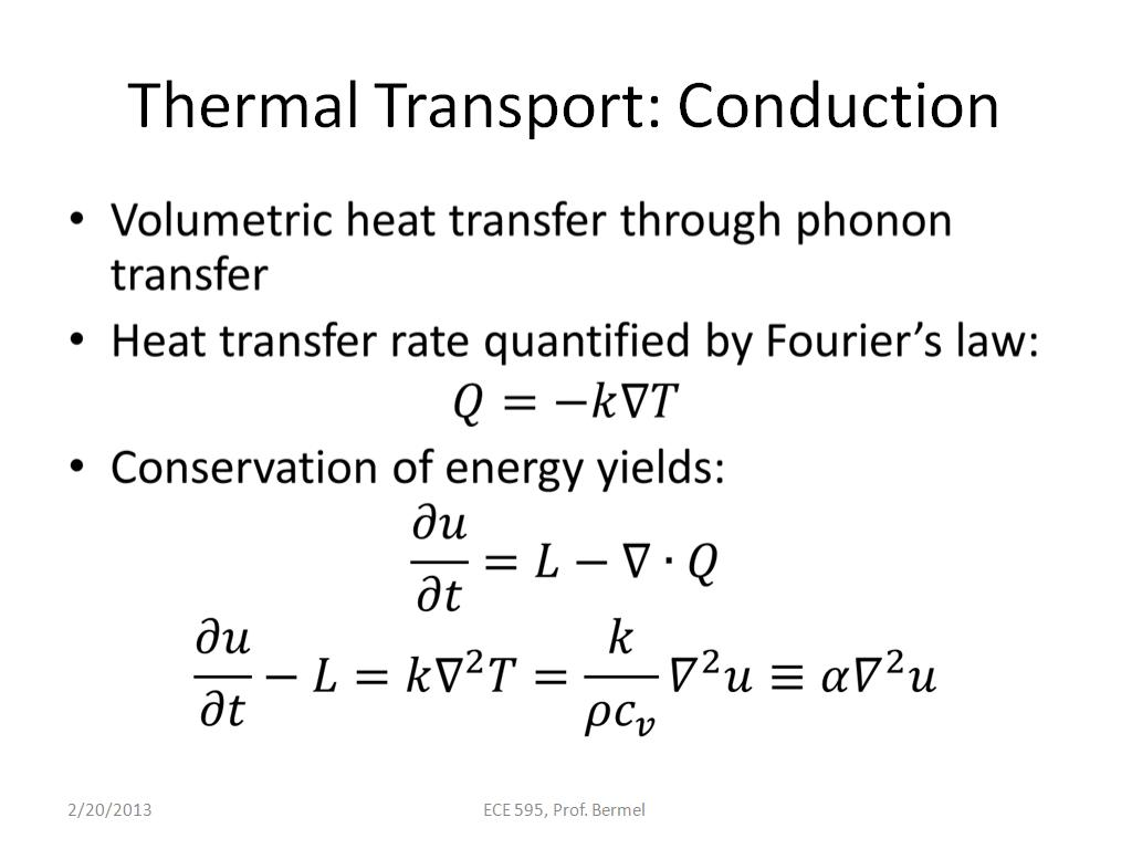 Thermal Transport: Conduction