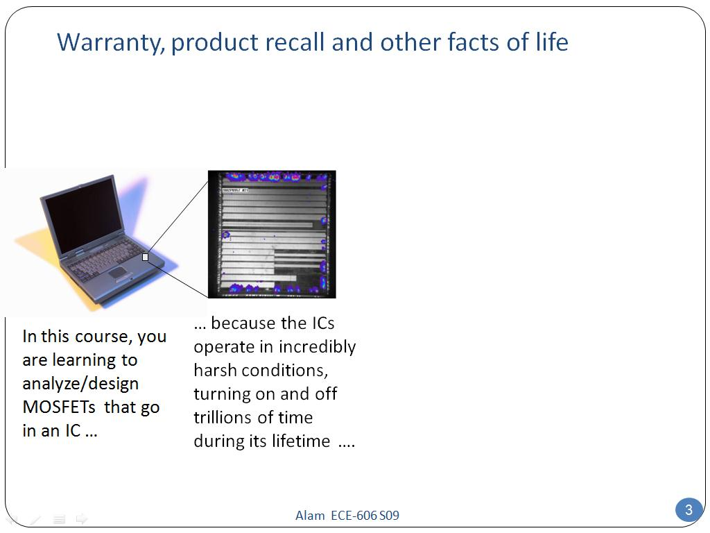 Warranty, product recall and other facts of life