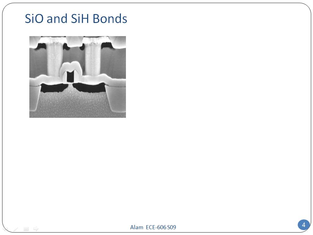 SiO and SiH Bonds