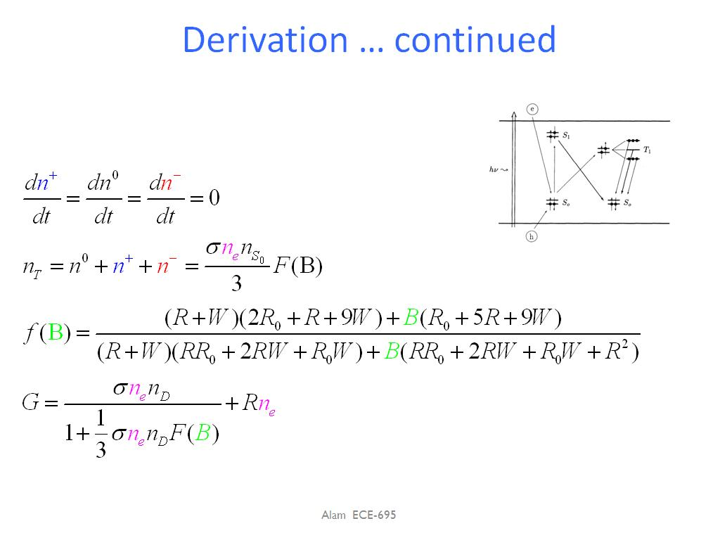 Derivation … continued