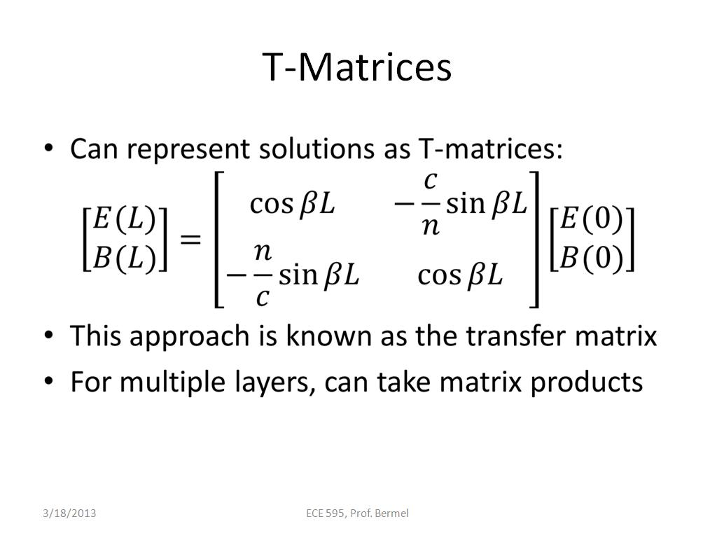 nanoHUB org - Resources: ECE 595E Lecture 26: Overview of Transfer