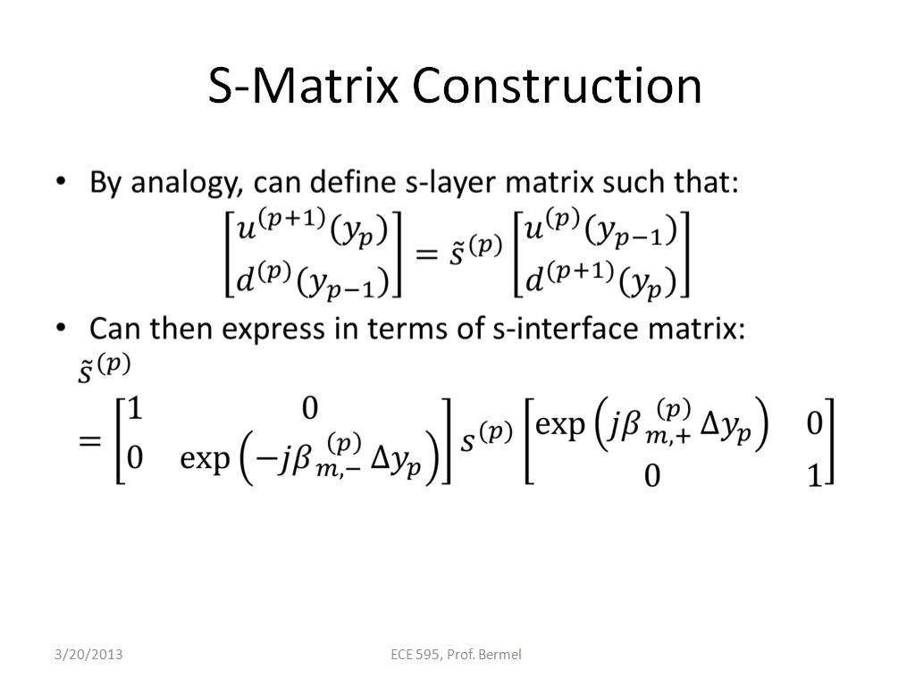 S-Matrix Construction