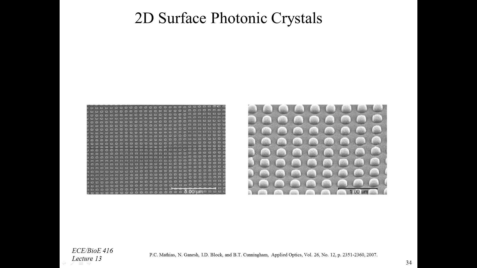2D Surface Photonic Crystals