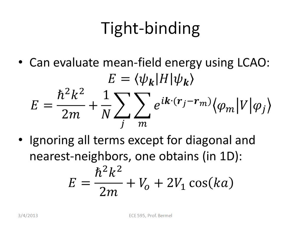 Tight-binding