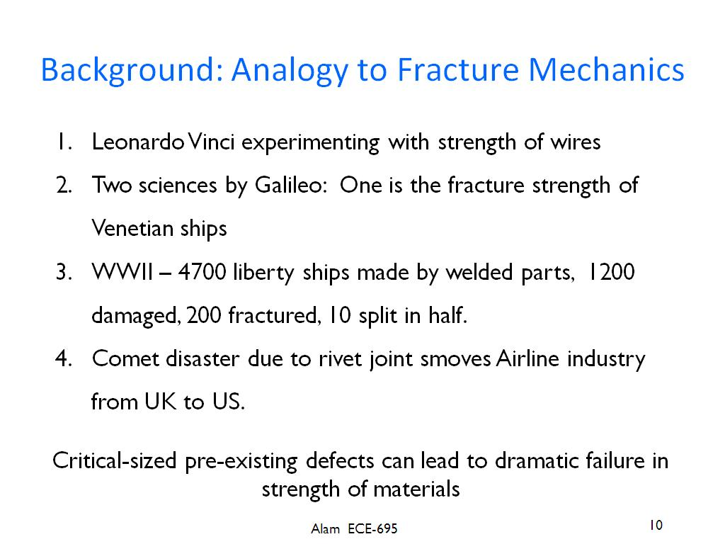 Background: Analogy to Fracture Mechanics