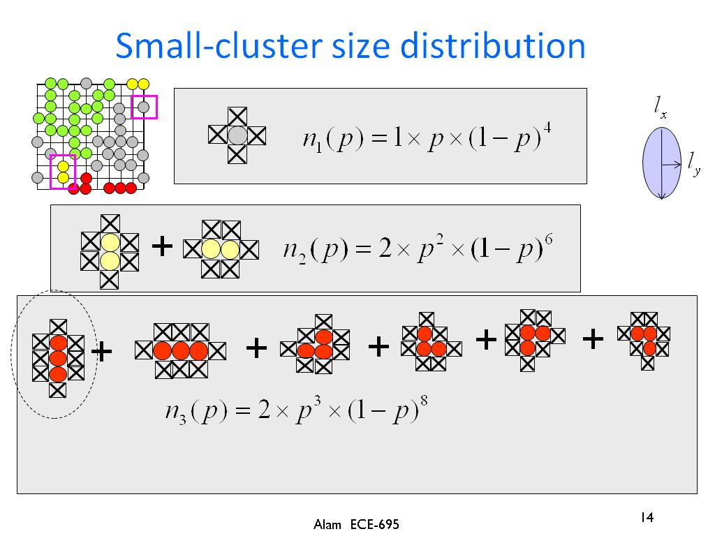 Small-cluster size distribution