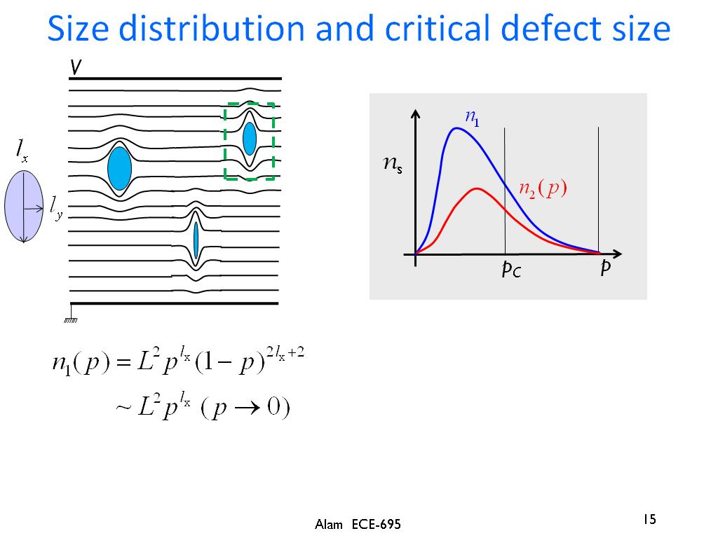 Size distribution and critical defect size