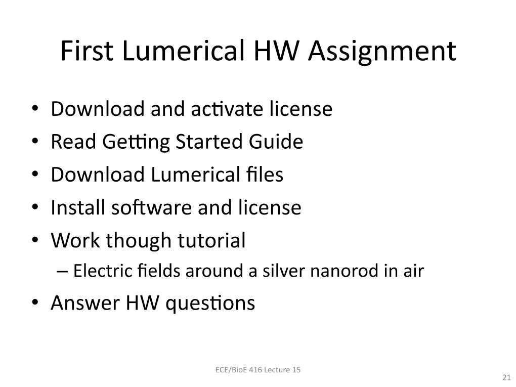 nanoHUB org - Resources: [Illinois] ECE 416 Lumerical