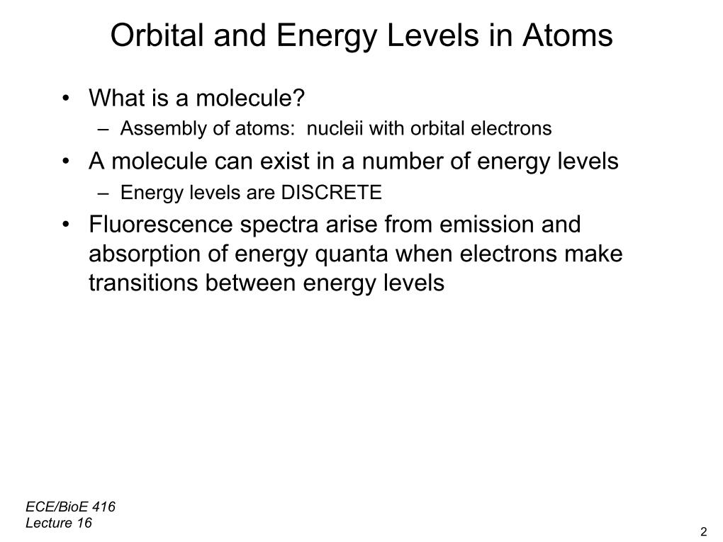 Orbital and Energy Levels in Atoms