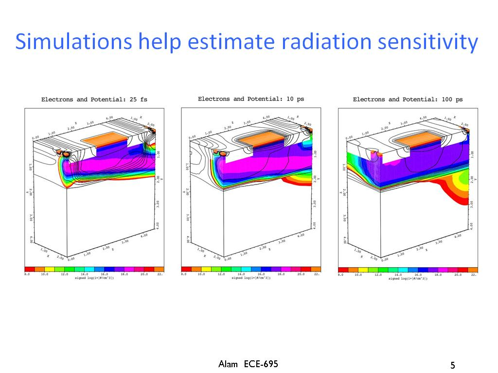 Simulations help estimate radiation sensitivity