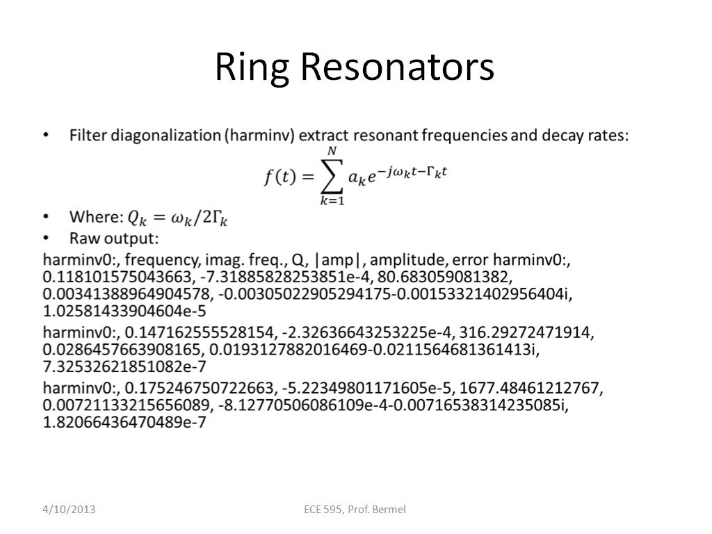 Ring Resonators
