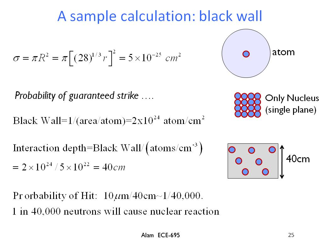 A sample calculation: black wall