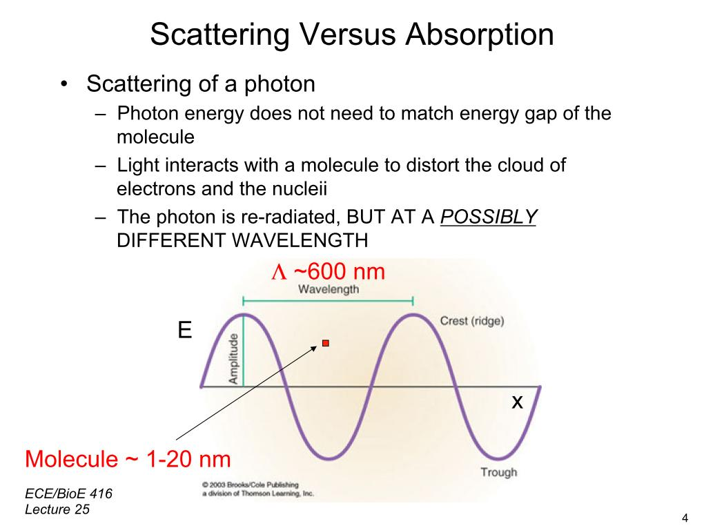 Scattering Versus Absorption